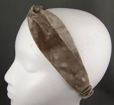 "Cheetah leopard turban twist headband stretch scrunch fabric 1.5/"" wide turband"