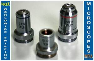 Achromatic-Student-Microscope-Objectives-4x-10x-amp-40x-ideal-for-Old-Scopes