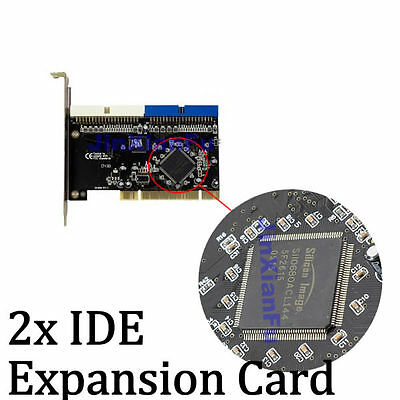 32bit PCI to 2 ports Ultra ATA 133 IDE PCI Sil0680 chip Expansion Card