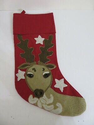 Pottery Barn Kids Holiday Stocking Reindeer Christmas New