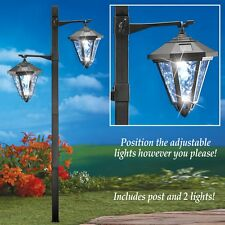 Sparkling Two Tier Light Solar Powered Garden Yard Lamp Post