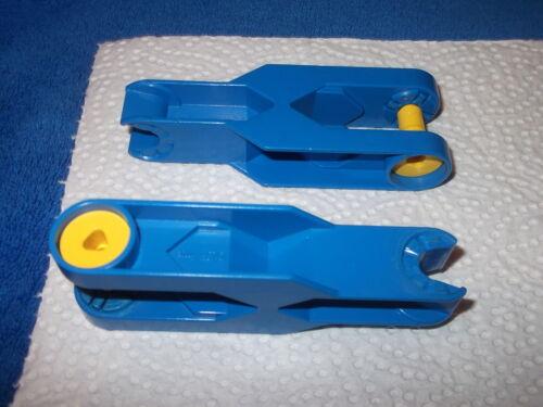 Lego Duplo Toolo Baustelle 2 X Arm Verbinder Farhezeug Blau Verbindungsarm 6275