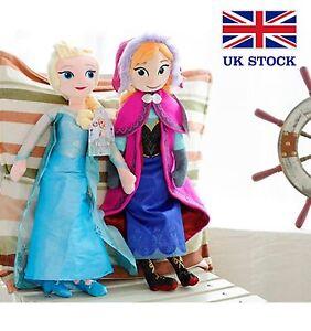 Frozen-Anna-Elsa-Soft-Plush-Doll-Toy-Set-20-034-50cm-UK-Stock-amp-FAST-amp-FREE