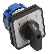 3 Position Rotary Cam Changeover Switch AC 660V 20A Mounting Hole 50 x 50 x 65mm