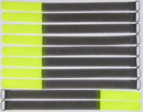 10 x Câble Velcro Velcro 300 x 20 mm Fluo jaune FK Velcro Serre-câbles Velcro Bandes