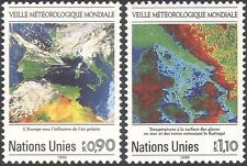 UN (G) 1989 Weather Watch/Satellite Images/Maps/Space/IMO/WMO 2v set (n19332)