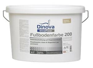 Fußbodenfarbe ~ Dinova dinofloor fußbodenfarbe 200 10 liter abriebfest für den