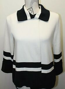Open Jacket Black Women Accent White Small 100 Lauren Cotton Blazer Ralph Shirt 5Iagaq