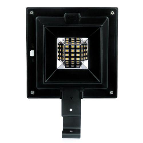 4 Pack Solar Power Gutter Lights 12 LEDs Security Landscape Garden Lamp Outdoor