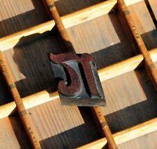 Lettern Rare Wood Type Letterpress Printing Block Woodtype Font Antique Printer