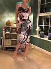 Fabulous Ted Baker Ladies Floral Strap Dress Stunning Size 2  UK10