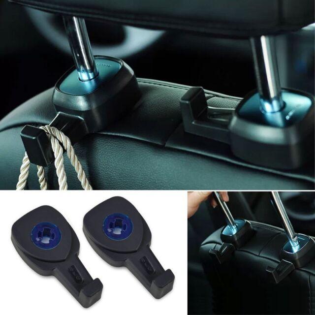 2X Black Portable Car Auto Seat Hanger Purse Bag Organizer Holder Hook Headrest