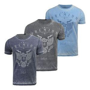 T-shirt-Homme-Smith-amp-Jones-Burnt-Out-T-shirt-a-encolure-ras-du-cou-coupe-standard-coton-tee
