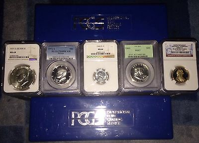 Graded Coins Pcgs Ngc 2 Slab Lot