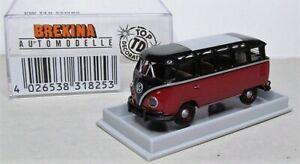 1-87-Brekina-VW-t1-Samba-Bus-OVP-31825-Nero-Rosso-Rubino
