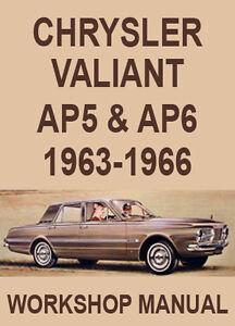 chrysler valiant ap5 ap6 workshop manual 1963 1966 ebay rh ebay com valiant charger workshop manual vc valiant workshop manual