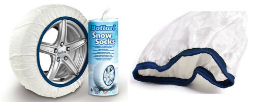 Calze da Neve Catene da Neve per Ruote Auto Snow Socks Calza 205//55-17 Bottari