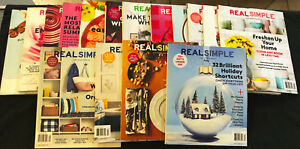 Real-Simple-Magazine-2015-2016-2017-Lot-of-16-Collection-Free-Shipping