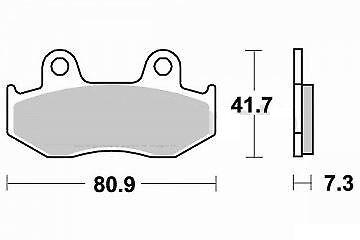 Jeu 2 plaquettes de frein Avant de qualité HONDA XL 600 R PD03  1983-1987