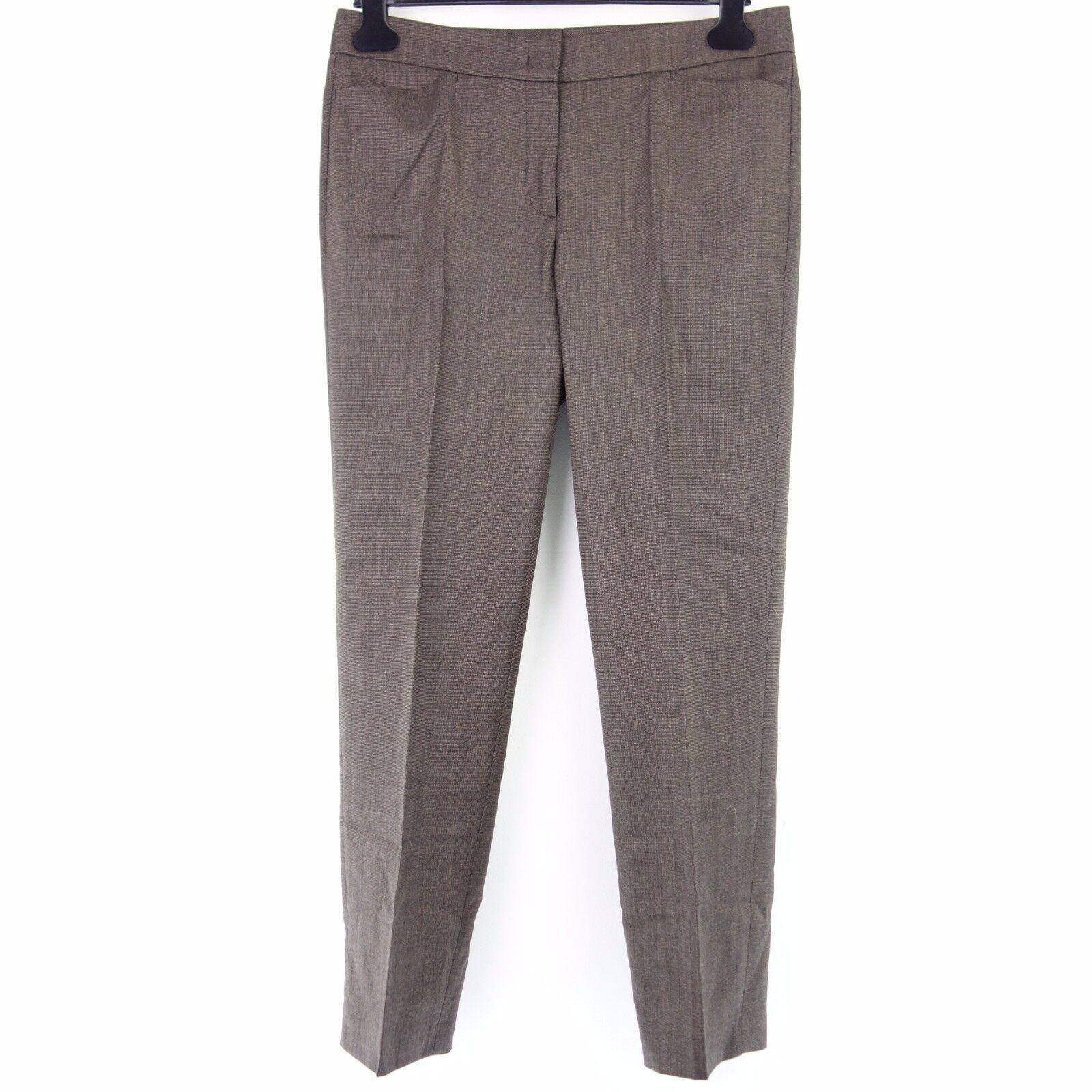 Raffaello Rossi Women Pants Pauline Size 40 Brown Wool Regular Fit Np 149
