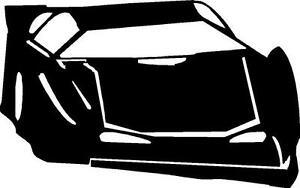 Late Model Race Car Vinyl Decal Sticker Dirt Track Nascar