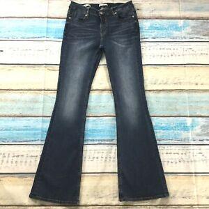 Vigoss-Womens-Jeans-size-8-Dark-Wash-Jagger-Bootcut-x33-034-inseam-Cotton-Stretch