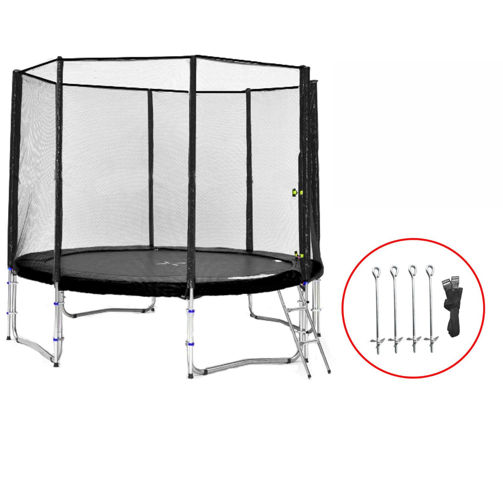 SB-305-SA Simple Jump Garten-Trampolin Netz,Leiter,Anker und Wetterplane,180kg