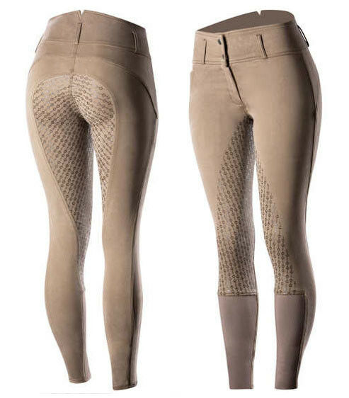 Horze Daniela Fungi Brown Silicone  Full Seat Breeches  the classic style