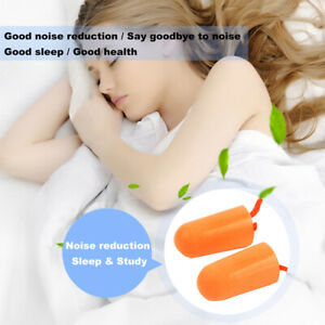 Soft Foam Earplugs Noise Protection Snoring Sleeping Aid Study expands 1 Pair