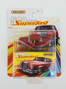 2019-Matchbox-50TH-Anniversary-Superfast-62-Mercedes-220se-Moving-Parts