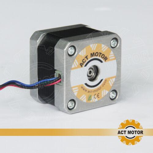 MOTORE ACT GmbH 1pc NEMA 17 17hs3404 motore passo passo 0.4a 34mm 12v 2800g.cm bipolare
