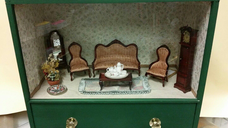Casa per bambole, salotto Coloreeee verde