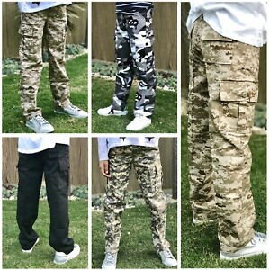 Kids-Boys-Girls-Military-Army-Ranger-Camping-outdoor-cargo-pants-trousers