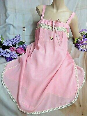 Antik Art Déco Französisch Unterwäsche Nachthemd Seide Krepp Flapper Gatsby Pink