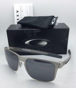 New Oakley Sunglasses HOLBROOK METAL OO4123-03 Satin Chrome w Black ... ccb006a1d20