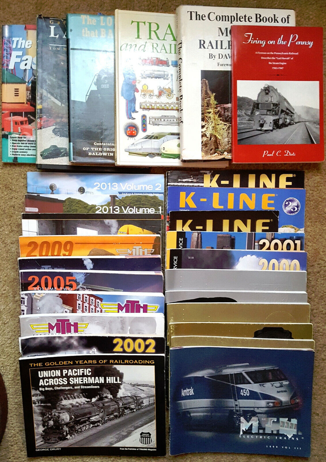 Collection of 27 various Toy and Model Train Railroad Books and Catalogs