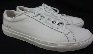 4083c30ff1f67 Image is loading Common-Projects-Achilles-Low-White-Leather-Sneakers-Size-