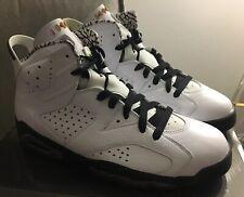 48ad7cb6be91 2010 Nike Air Jordan 6 VI Retro Motorsport White Black Size 9 395866-101 New