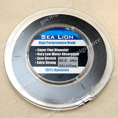 NEW Sea Lion 100/% Dyneema  Spectra Braid Fishing Line 300M 50lb Red