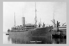 TAHITI Union SS Co HMNZT 04 Troopship NZ WW1 modern digital Photo Postcard
