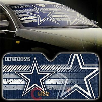 Shade Accessory Windshield Auto NFL Dallas Front Sun Car Cowboys Window URT0zTqwv