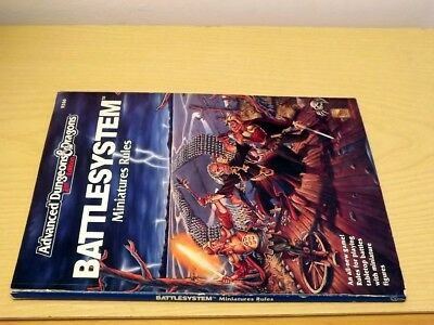 Ad&d Tsr Advanced Dungeons & Dragons 9266 Battlesystem Miniature Rules 1991 2nd Irrestringibile