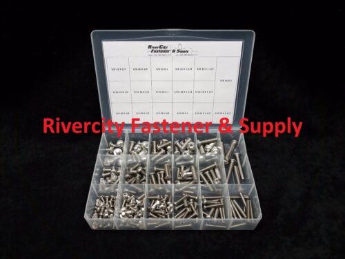 210 Button Socket Head Cap Screw Assortment 18-8 Stainless 1//4-20 5//16-18 3//8-16