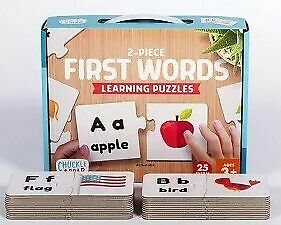 Chuckle /& Roar 2-Piece First Words Puzzles Ages 3+