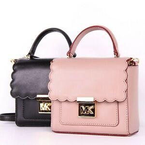 8781ce3280c1a4 NWT Michael Kors MINDY MINI Leather Convertible Top Handle Crossbody ...