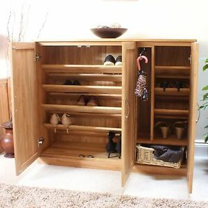 Mobel Solid Oak Extra Large Shoe Cupboard Hallway Hall Storage