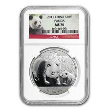 2011 1 oz Silver Chinese Panda Coin - MS-70 NGC - SKU #74513