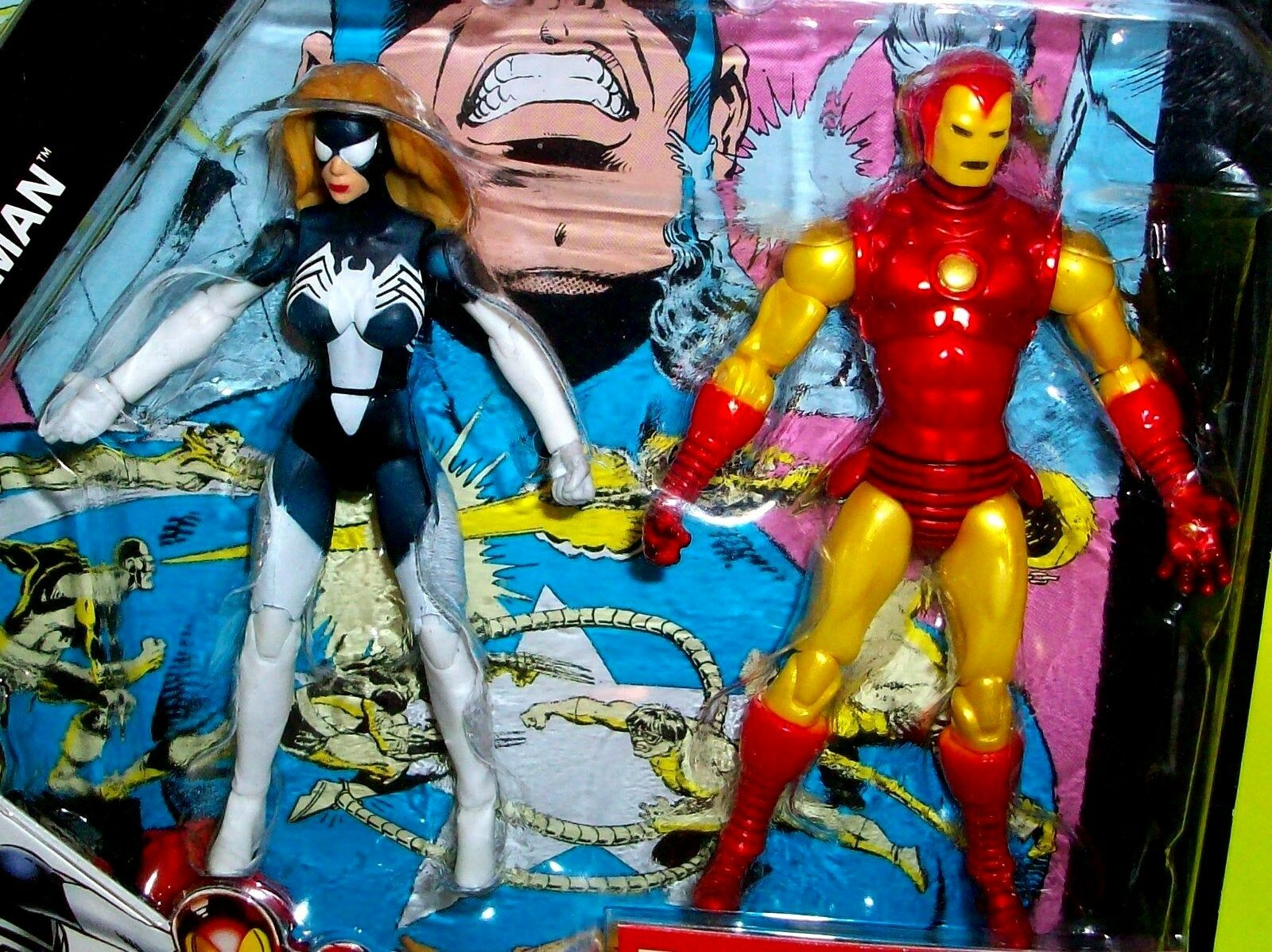 Marvel Universe IRON MAN SPIDER WOMAN Secret Wars Comic Book Action Figures
