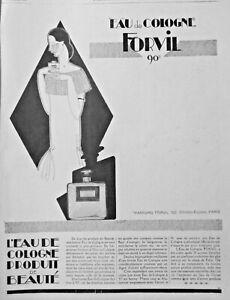 PUBLICITE-DE-PRESSE-1925-EAU-DE-COLOGNE-FORVIL-90-PRODUIT-DE-BEAUTE