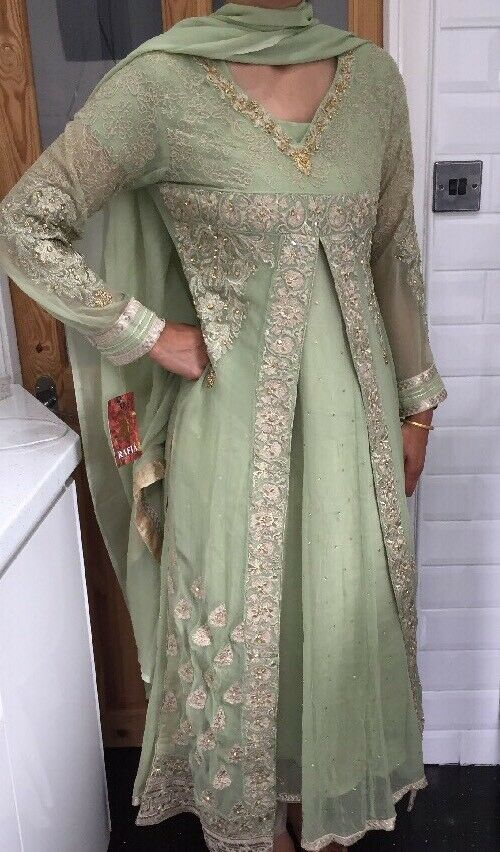 BNWOTS Ladies Salwar Kameez Dress Lengha Maxi Größe 10-12 Wedding Indian Kurta